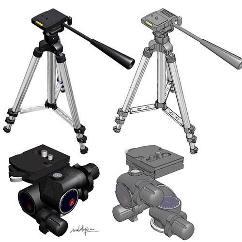 3D & TECHNICAL ILLUSTRATION. Tripod. 3D Model - © Ural Akyuz